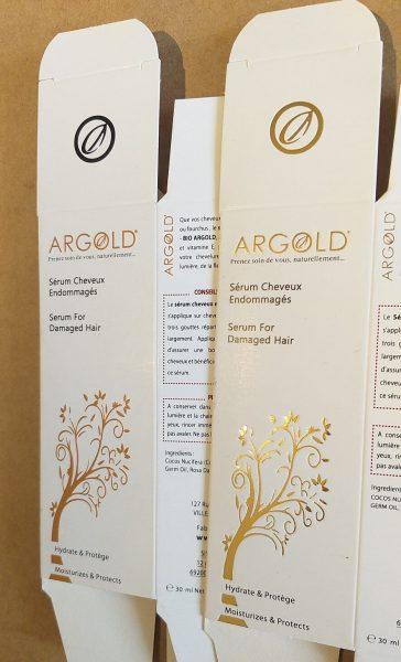 "Etui carton ""Argold"" par Dailypack, fabricant d'emballage carton personnalisé"